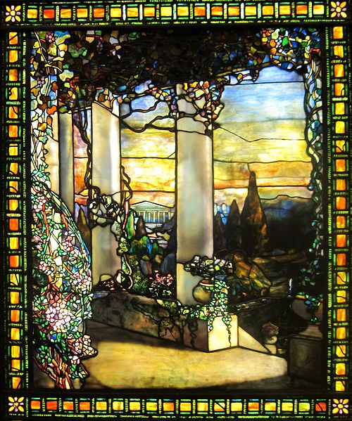 'Landscape with a Greek Temple' by Louis Comfort Tiffany, c. 1900, Cleveland Museum of Art. Image by Wmpearl. CC license 1.0.