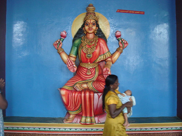 Munneswaram Lakshmi by Leon Meerson. CC license 2.0.