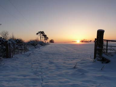Winter solstice sunset, near Rhynie, by Sylvia Duckworth (CC BY-SA 2.0)