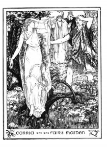 Connla and the Fairy Maiden by John Dickson Batten. Image via Wikimedia Commons. Public domain.