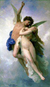 Psyche et L'Amour by  William-Adolphe Bouguereau. Image via Wikimedia Commons. Public domain.