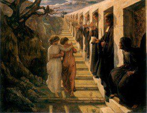 Anne-François-Louis Janmot (1814–1892), Poème de l'âme ~ 7 - Le Mauvaus Sentier (The Bad Path). Public domain image.