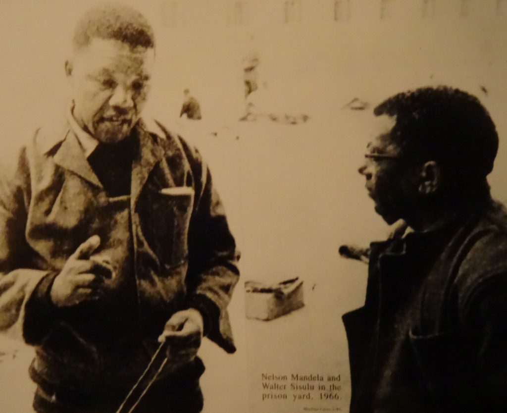 Mandela 1966 Rhobben Island prison. Image by Selena Fox.