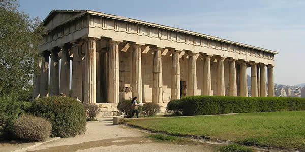 """Hephaistos Temple"" by Storeye - Own workLicensed under Public Domain via Wikimedia Commons."