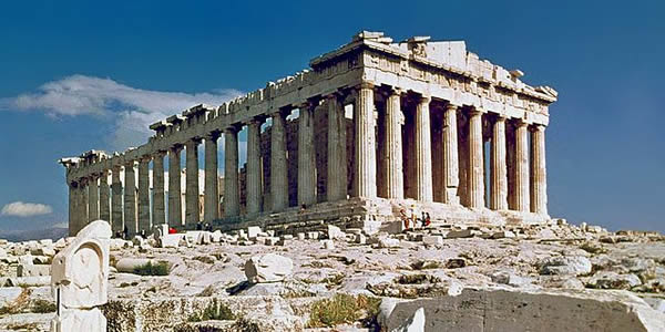 """The Parthenon in Athens"" by Steve Swayne - File:O Partenon de Atenas.jpg, originally posted to Flickr as The Parthenon AthensLicensed under CC BY 2.0 via Wikimedia Commons."