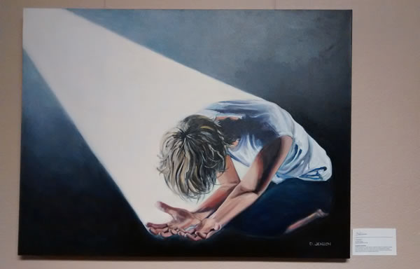 A painting in the hallway at Bethel church / Painting by D. Jensen / Photograph by Annika Mongan
