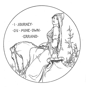 Rhiannon by John D. Batten from More Celtic Fairy Tales collected by Joseph Jacobs, 1894