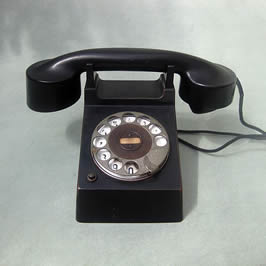 a black telephone