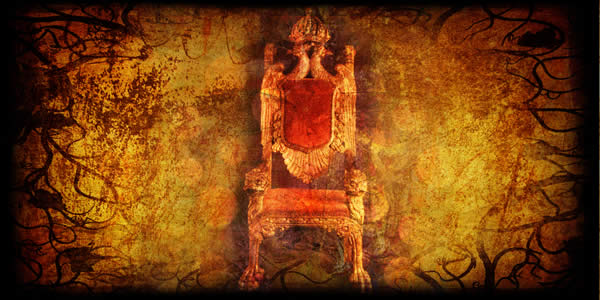 a throne on a field of gold
