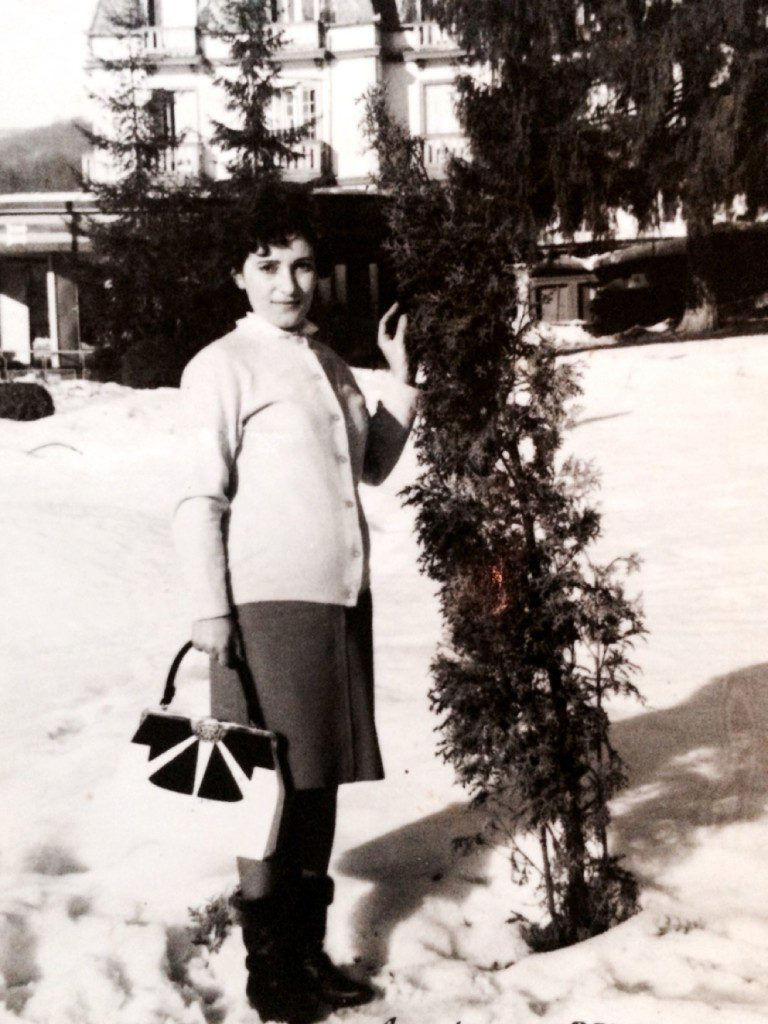 My mother, Ana, a great lover of pine trees.