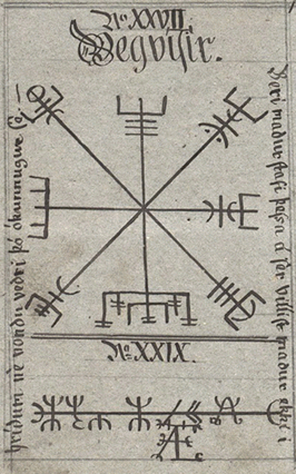 """""""Vegvisir-huld-p60"""" by Geir Vigfússon - National and University Library of Iceland. Licensed under Public Domain via Commons."""