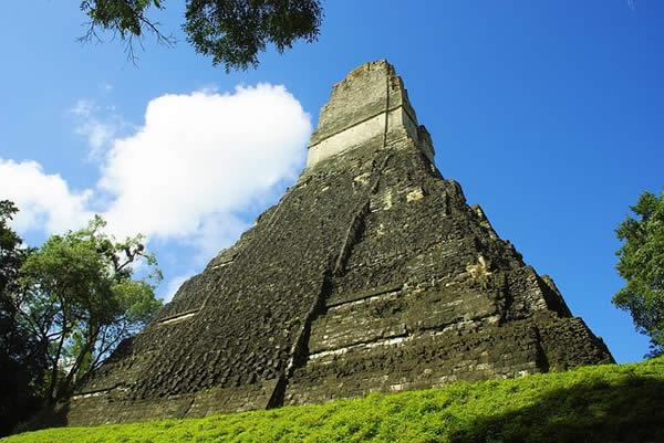 the Mayan temple of Tikal