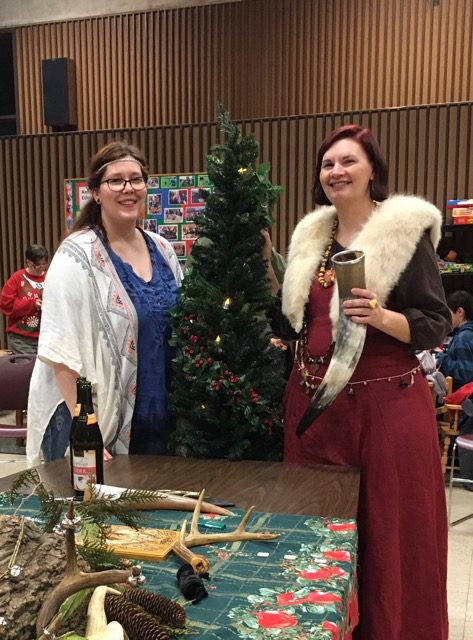 Mary Diamond and the author, co-leaders of the Yule ritual / Photo by Kara Sigrun