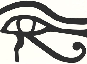 a line drawing of the eye of heru