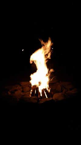 Ritual Fire at Harvest Gathering 2015 / M. Daimler