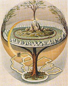 an image of the Norse world tree, yggdrasil.