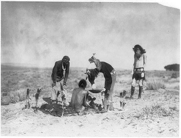 Navajo Shaman, by Edward S. Curtis, 1905 (Public Domain)