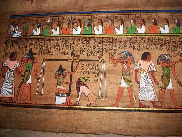 heiroglypics and images of Egyptian gods