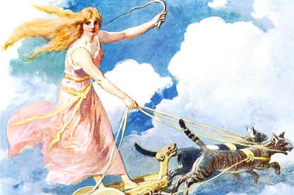 """Freya, bring me love!"" / 1905 Carl Emil Doepler Jr. / Public Domain"