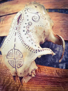 another painted skull