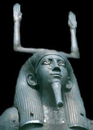 a stature of an egyptian god