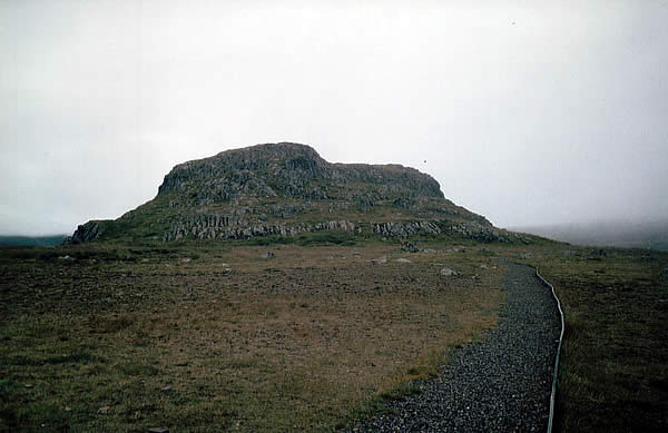 a hill of stone in iceland