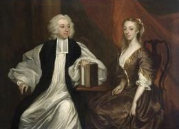 Portrait c.1740 of Robert and Katherine Clayton, by James Latham.