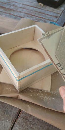 a partially assembled box