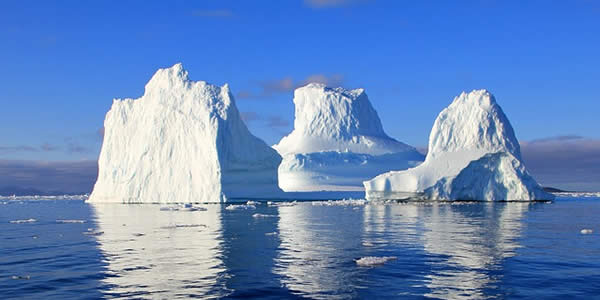 a photograph of an iceberg