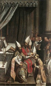 Image of an episcopal consecration by Claude Bassot (1580-1630)