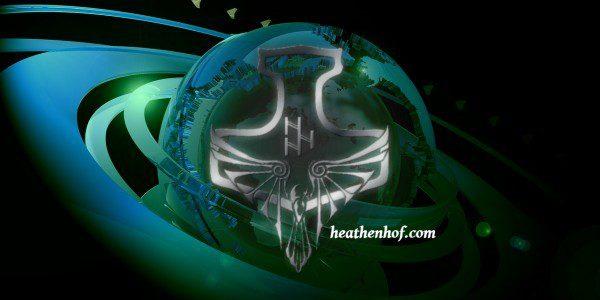 the logo for heathenhof.com