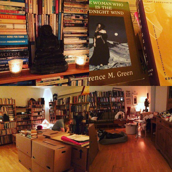 a collage of photographs of the author's apartment