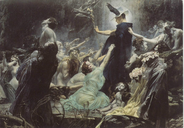"""The Souls of Acheron"" by Adolf Hirémy-Hirschl. From WikiMedia."