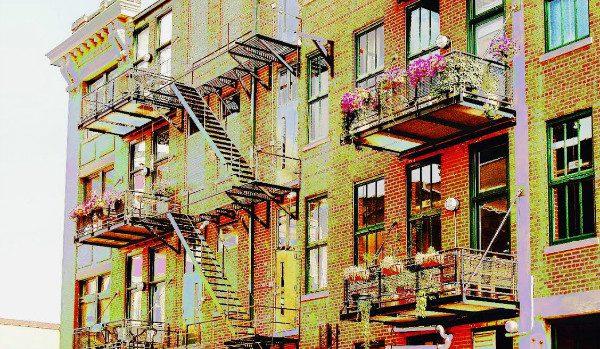 Cincinnati Fire Escape, by Derek Jensen (Tysto).  CC 2.0 License.