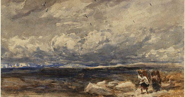 """On Carrington Moss"" by David Cox.  From WikiMedia."