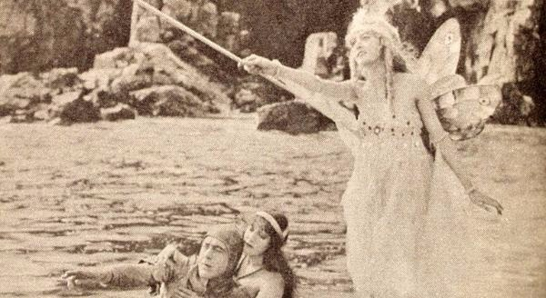 "Still from the 1918 film, ""Queen of the Sea."""