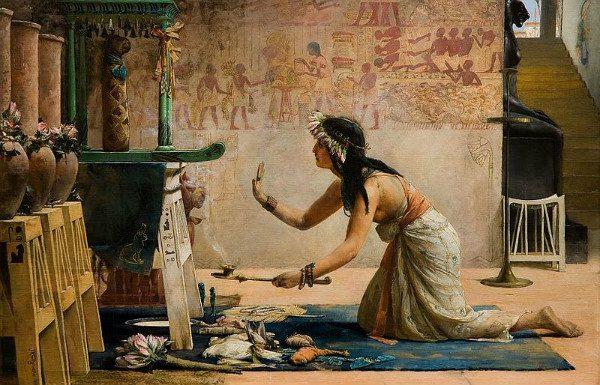 """The Obsequies of an Egyptian Cat"" by John Reinhard Weguelin.  From WikiMedia."