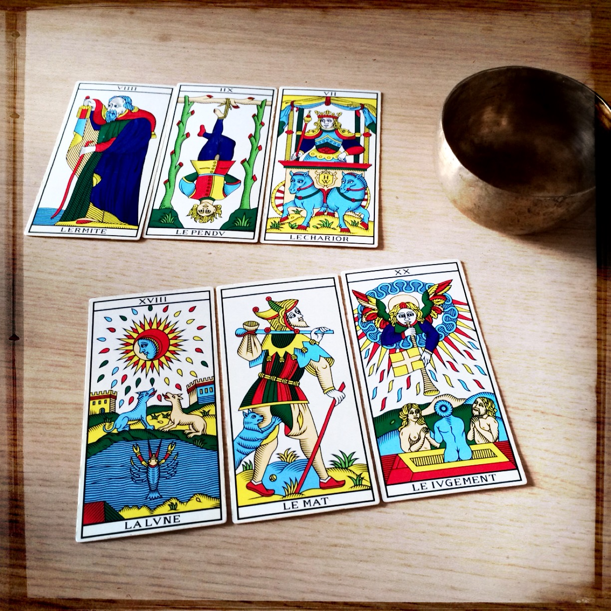 Millenium Marseille Tarot, as reconstructed by Wilfried Houdoin (Photo: Camelia Elias)