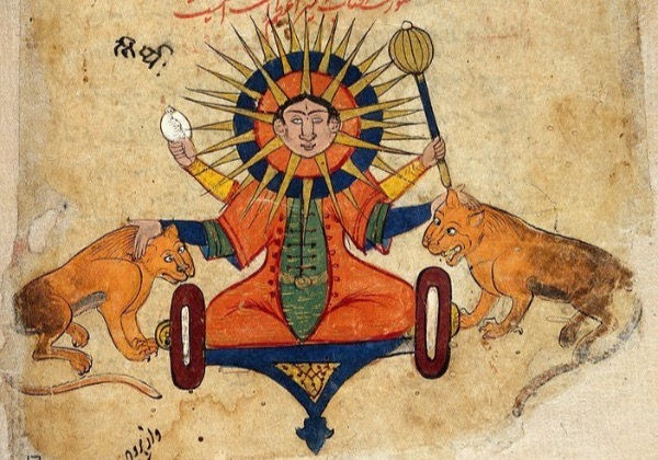 """The Sun From a Persian Manuscript."" From the Welcome Trust. CC 4.0 License."