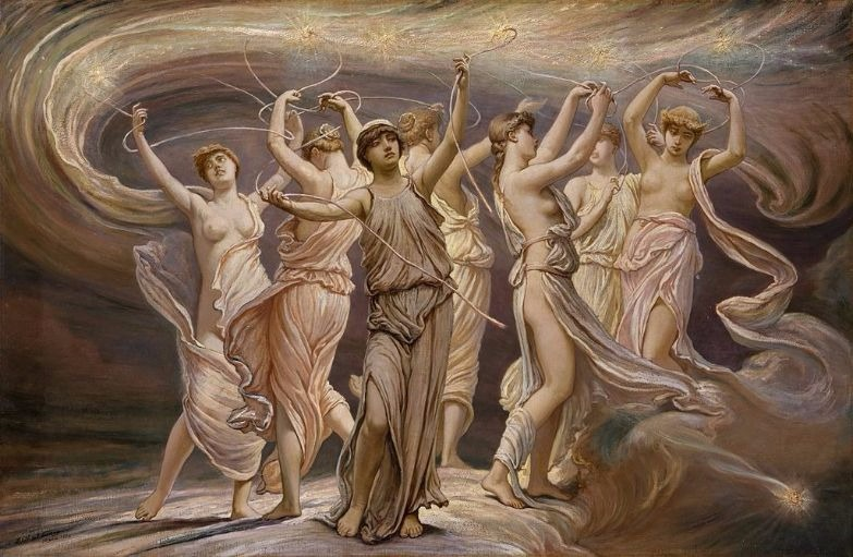 """The Pleiades"" (1885) by  Elihu Vedder.  From WikiMedia."