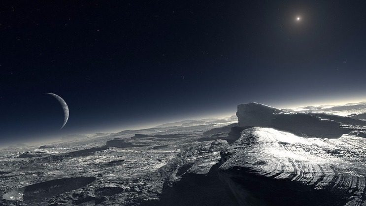 Artist's Depiction of Pluto, from European Southern Observatory (ESO).  Public Domain Image.