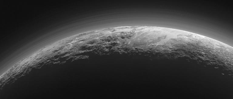 Mountains of Pluto, from NASA, Public Domain image.