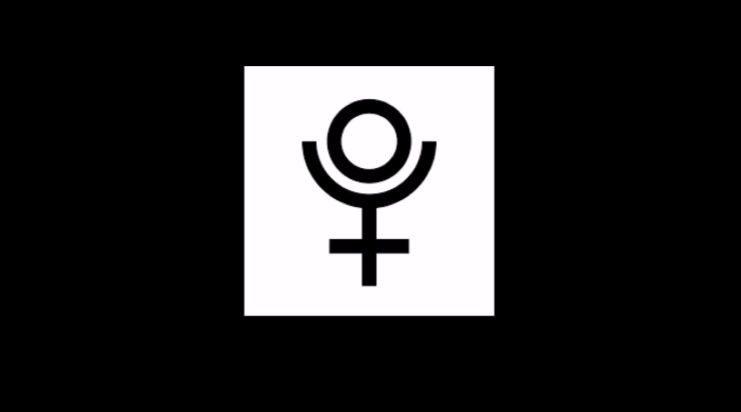 Symbol for Pluto.