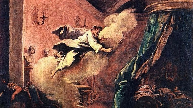 """""""Dream of Aesculapius"""" by Sebastiano Ricci (1710)."""