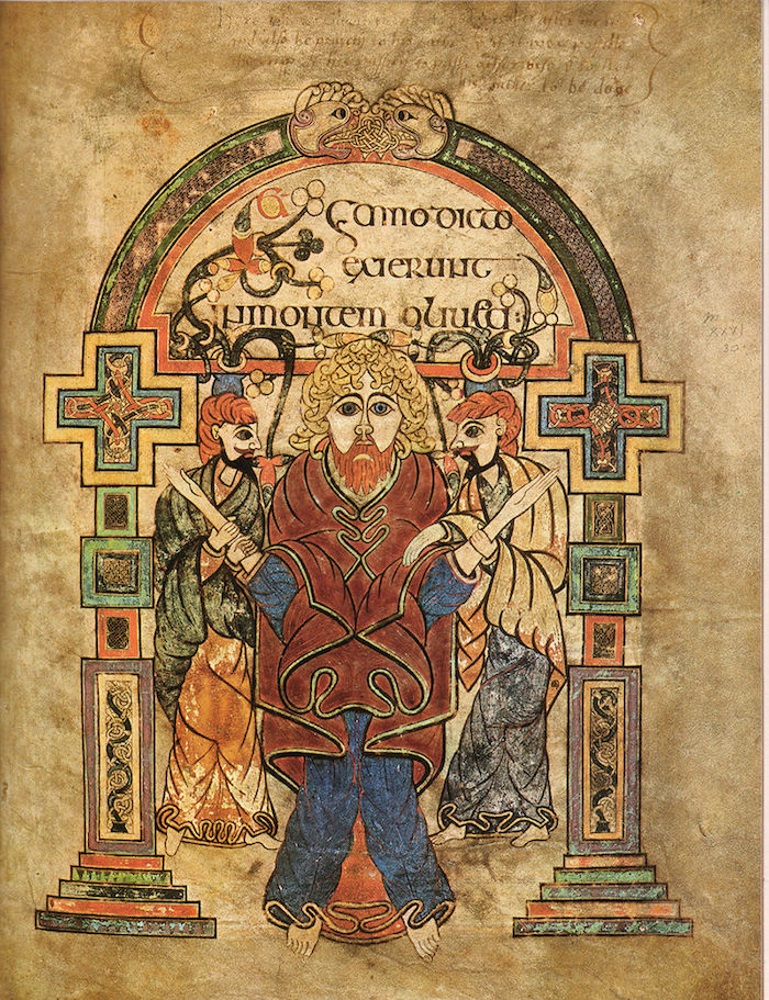 Arrest of Christ from the Book of Kells, public domain