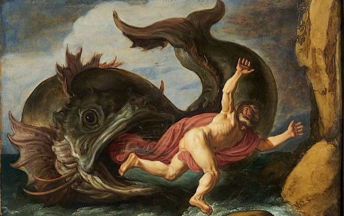 """""""Jonah and the Whale"""" by Pieter Lastman.  From WikiMedia."""