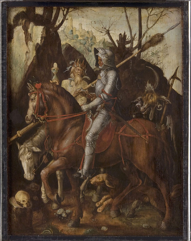 """A Knight, Death, and the Devil"" allegedly by Cornelis van Dalem.  From WikiMedia."