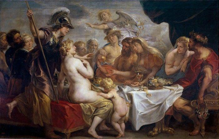 """Golden Apple of Discord"" by Jacob Jordaens.  From WikiMedia."