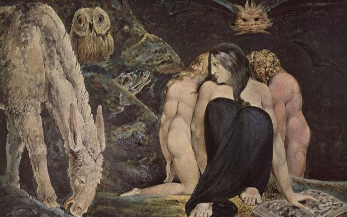 """""""The Night of Enitharmon's Joy,"""" William Blake's iconic painting of Hekate.  From WikiMedia."""