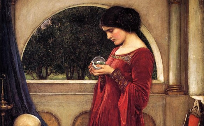 """The Crystal Ball"" by JW Waterhouse.  From WikiMedia."